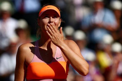 Sharapova nghẹn ngào hạnh phúc trên đỉnh vinh quang - 1