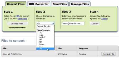 Chuyển đổi định dạng tập tin trực tuyến miễn phí - 1