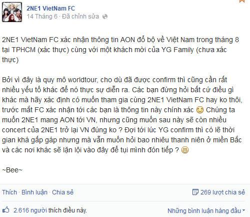 Tháng 8 tới, 2NE1 sẽ có mặt tại Việt Nam - 1
