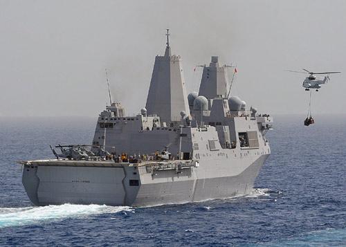 Tàu đổ bộ Mỹ chở 550 lính đặc nhiệm áp sát Iraq - 1