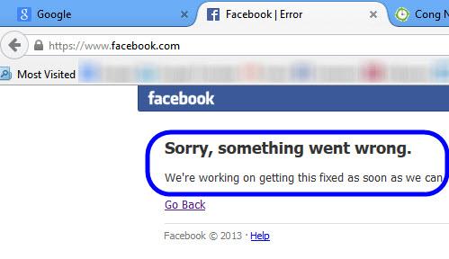 """Facebook """"sập"""" 30 phút: Thiệt hại hàng trăm ngàn USD - 1"""