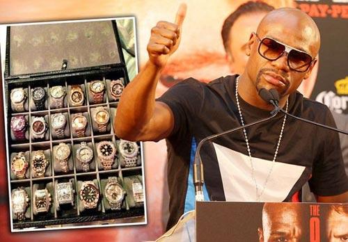 Bộ sưu tập đồng hồ gần 140 tỷ của Mayweather - 1