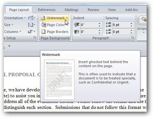 Cách đóng dấu bản quyền cho văn bản Word 2007/2010/2013 - 1