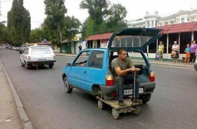 Chiếc xe với bộ 'siêu bánh xe'.