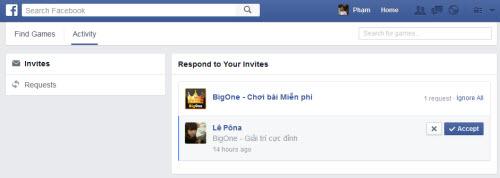Từng bước xóa, khóa lời mời chơi game trên Facebook - 1