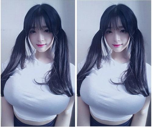 """Cô giáo Hàn Quốc nổi tiếng vì có vòng một """"ngộp thở"""" - 1"""