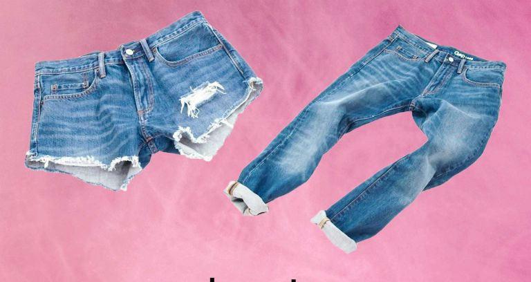 Hô biến quần jean dài đã cũ thành quần short sành điệu - 1