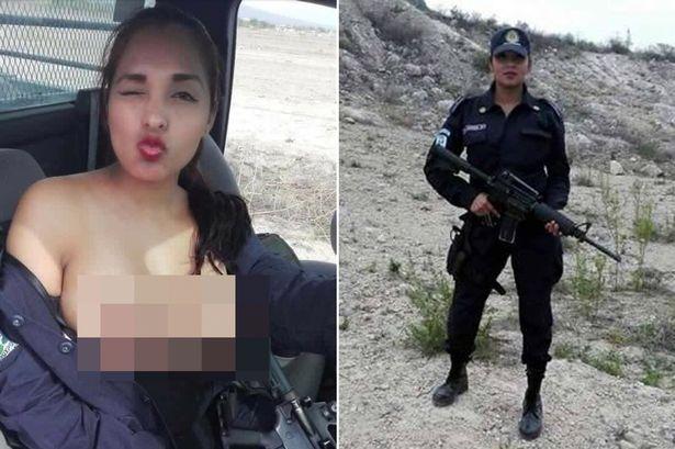 """Mexico: Chụp """"tự sướng"""" ngực trần, nữ cảnh sát gặp vạ - 1"""