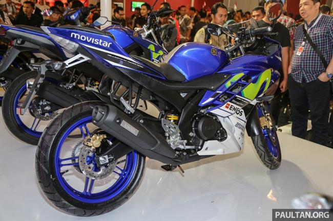 Hãng xe Nhật Bản vừa bất ngờ ra mắt chiếc Yamaha R15 2016 phiên bản Movistar tại triển lãm xe ở Indonesia.