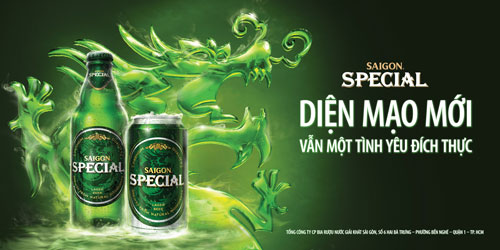 Diện mạo hoàn toàn mới của bia Saigon Special - 1