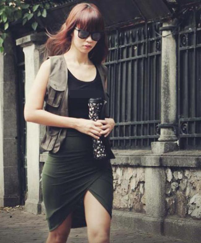 Các chân dài Việt cũng ngày càng tự tin xuất hiện nơi đông người với vẻ ngoài như thế này.