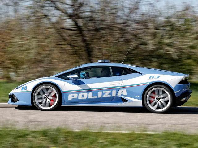 Cảnh sát Ý dùng Lamborghini Huracan tuần tra bắt cướp