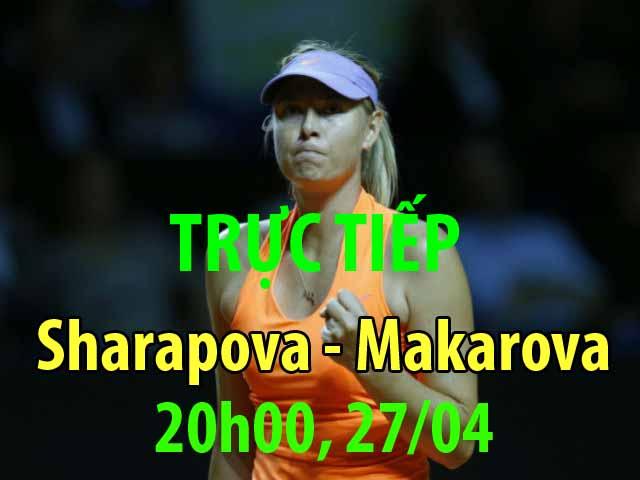 Chi tiết Sharapova - Makarova: Masha bẻ break bản lề (KT)
