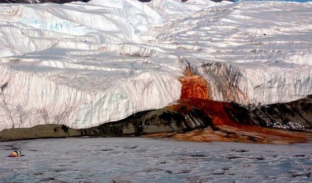 """Bí ẩn thác nước trăm năm chảy ra """"máu"""" ở Nam Cực - 1"""