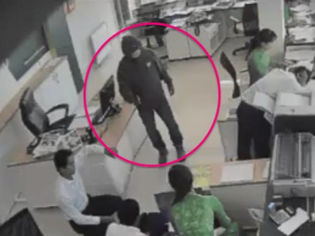 Nhận diện nghi phạm dùng súng cướp ngân hàng ở Trà Vinh