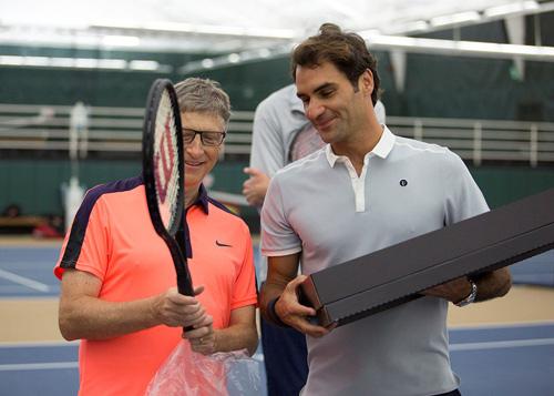 """Federer và Bill Gates bùng nổ ở trận tennis """"tỷ đô"""" - 1"""