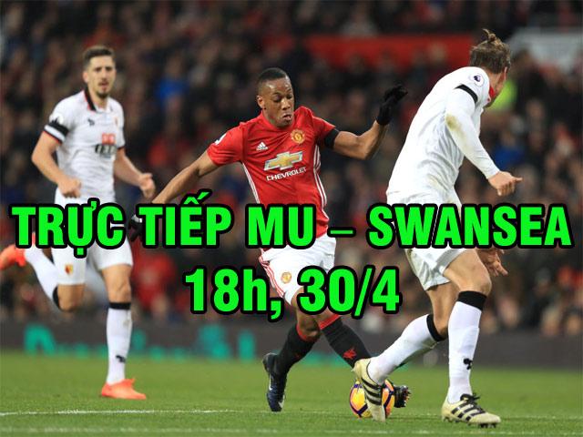 TRỰC TIẾP bóng đá MU - Swansea: Mourinho trổ tài xoay sở