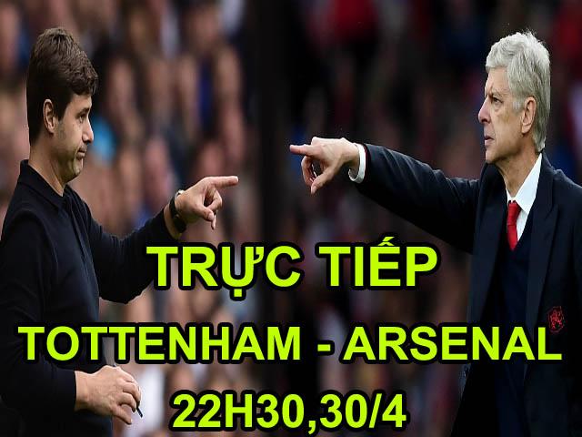 TRỰC TIẾP bóng đá Tottenham - Arsenal: Wenger răn đe Tottenham