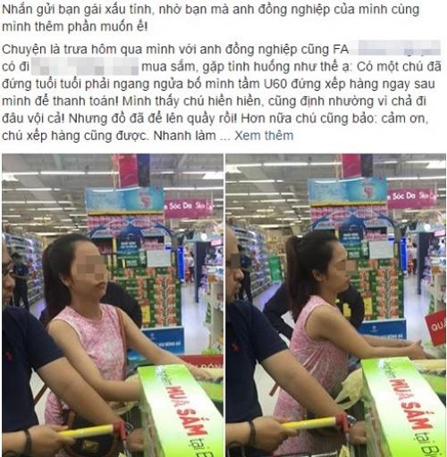 Thiếu nữ xinh đẹp gây bức xúc vì hành động thô lỗ trong siêu thị - 1