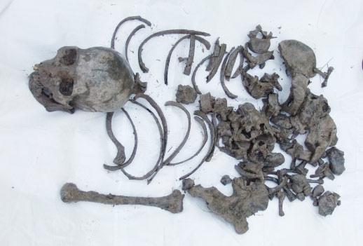 Mò tôm dưới ao, phát hiện bộ xương người chết bí ẩn - 1