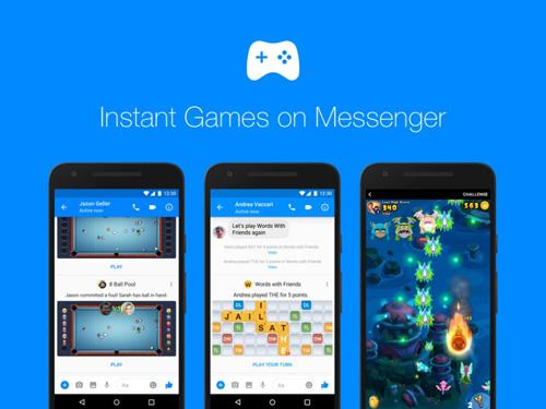 Facbook tung ứng dụng Game trên Messenger - 1