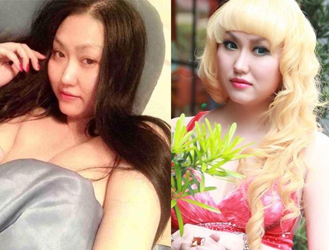 """Phi Thanh Vân xứng đáng là mỹ nữ """"ăn phấn"""", nhan sắc của người đẹp trước và sau khi trang điểm khác nhau rất nhiều."""