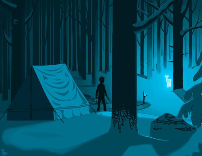 Họa sĩPatrick Hines đã dùng Microsoft Paint để vẽ ra bức ảnh này, như một cảnh trong phim Harry Potter.