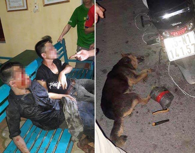 Bị dân vây bắt, nghi phạm trộm chó giả chết để tránh đòn - 1