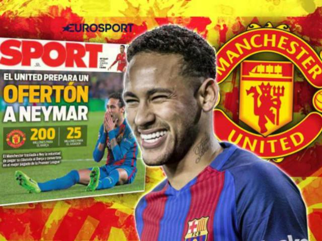 Neymar rời Barca: Chỉ chờ MU – Mourinho tái xuất Cúp C1