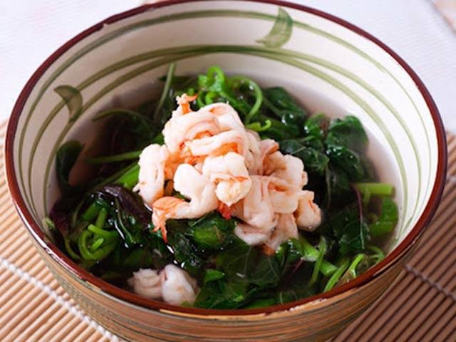 Canh rau dền nấu tôm món ăn cho mùa hè oi ả
