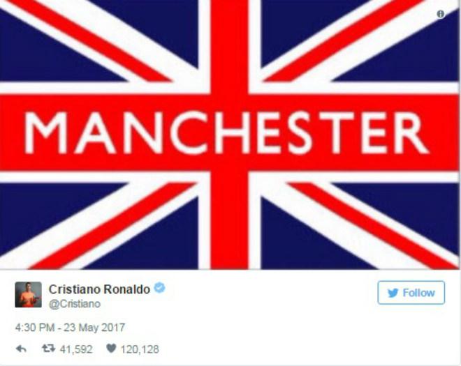 Đánh bom Manchester: Ronaldo đau xót, Beckham tan nát trái tim - 1