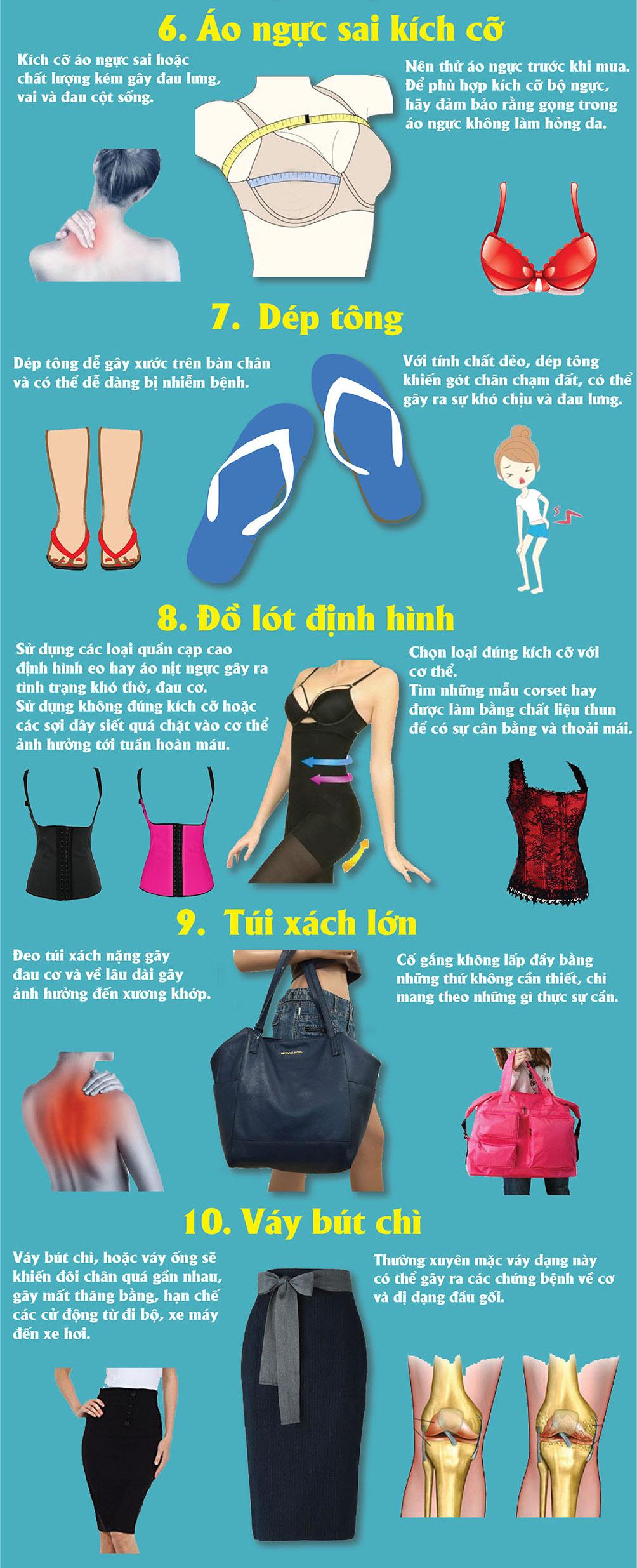 Choáng khi biết 10 loại phụ kiện, áo quần này hại sức khỏe đến vậy - 2