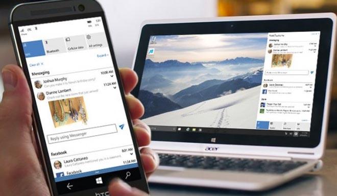 Nhận thông báo tới smartphone Android bằng máy tính Windows 10 - 1