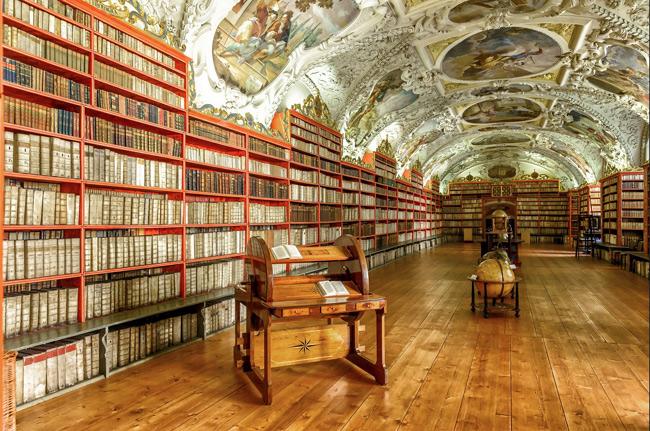 10. Thư viện Tu viện Strahov, Prague, Cộng hòa Séc