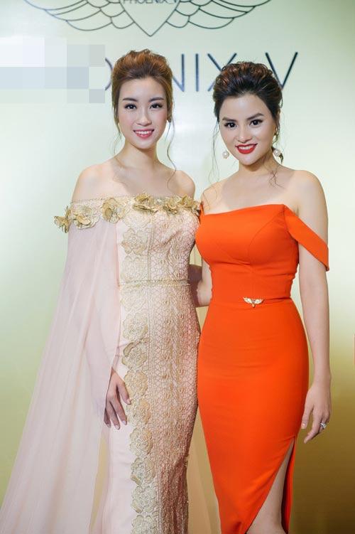 Hoa hậu Mỹ Linh bất ngờ đẹp như nữ thần tại Campuchia - 4