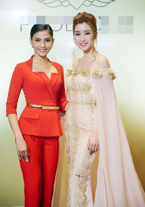 Hoa hậu Mỹ Linh bất ngờ đẹp như nữ thần tại Campuchia - 6