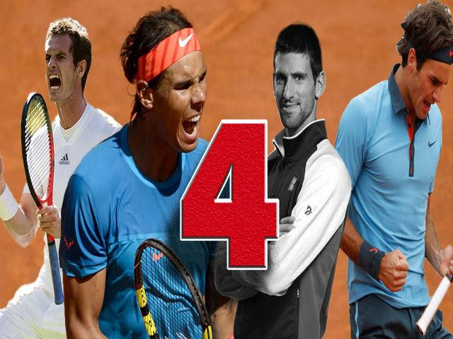 """Wimbledon: """"Tứ đại danh bổ"""" Federer - Nadal - Djokovic - Murray sống mái"""
