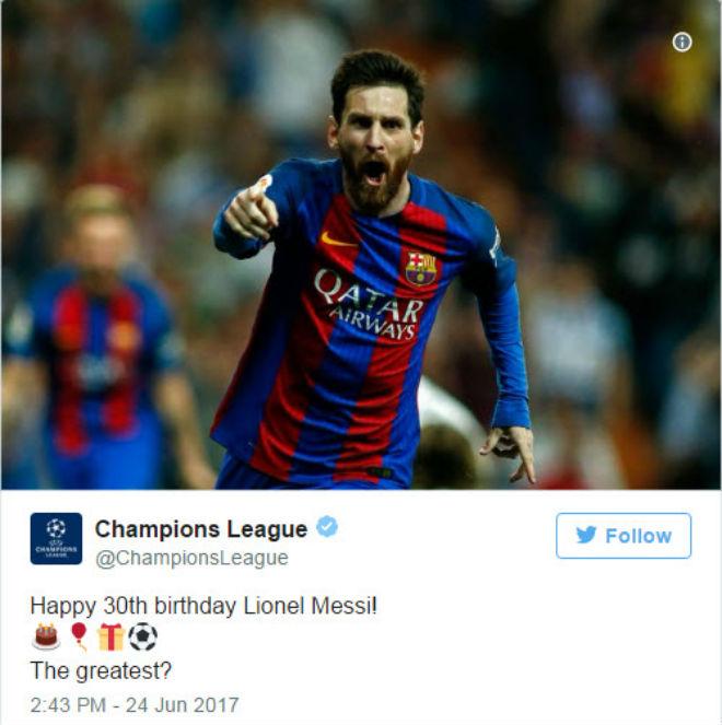 """UEFA gọi Messi là """"vĩ đại nhất"""", fan Ronaldo nổi đóa - 1"""