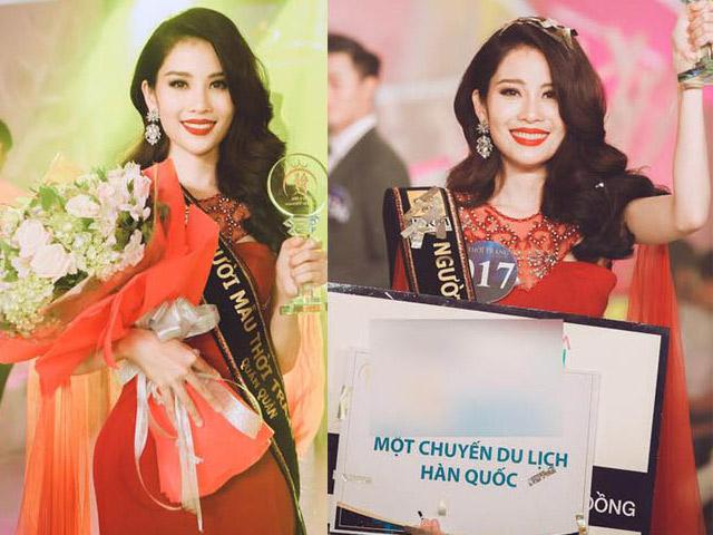 Chị gái Hoa khôi Nam Em giật giải nhất Người mẫu thời trang