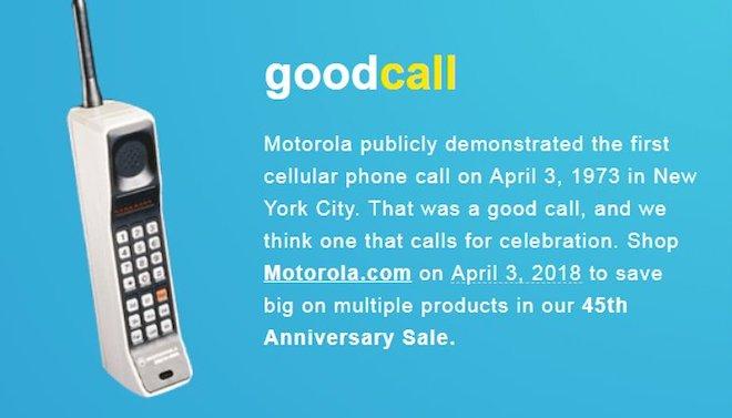 Cuộc gọi điện thoại di động đầu tiên trên thế giới sắp được 45 năm - 1