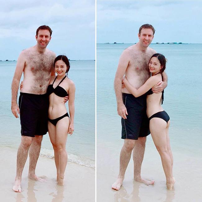 Vẻ gợi cảm của Lan Phương trước khi mang bầu với chồng Tây cao 2m - 1