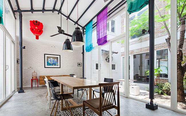 Dự án nằm tại Thuận An, đã được cải tạo lại theo hình thức nhà với kiểu cửa kéo Nhật Bản.