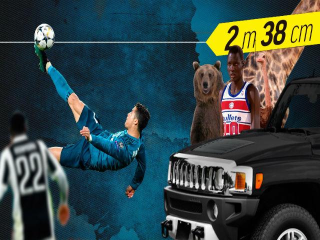 """Siêu phẩm Ronaldo: Sức bật vô đối bóng đá, siêu VĐV bóng rổ """"chào thua"""""""