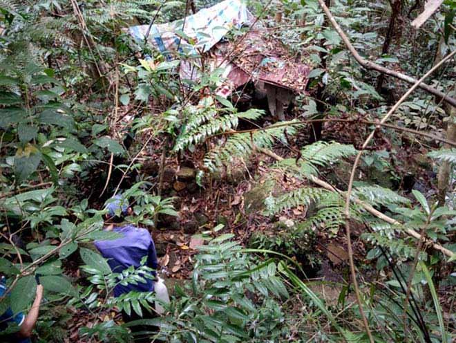 Phát hiện 1 thi thể đang phân hủy giữa rừng - 1