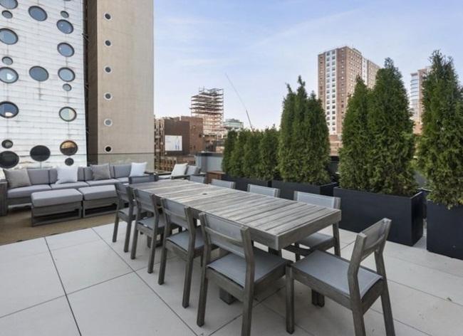 Ngoài ra, dinh thự còn có 169m2 diện tích ngoài trời được thiết kế như một khu vườn nhỏ.