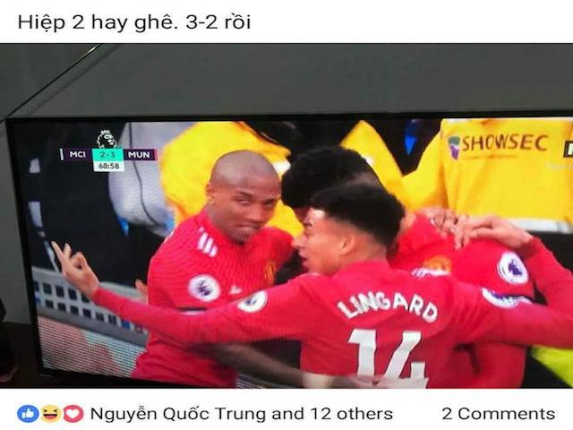 MU lội ngược dòng Man City, dân mạng liên tưởng tới U23 Việt Nam