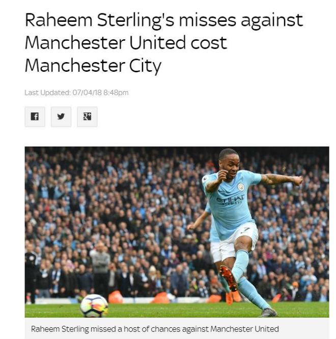 Man City thua ngược MU: Báo chí và cư dân mạng vạch mặt tội đồ Sterling - 1