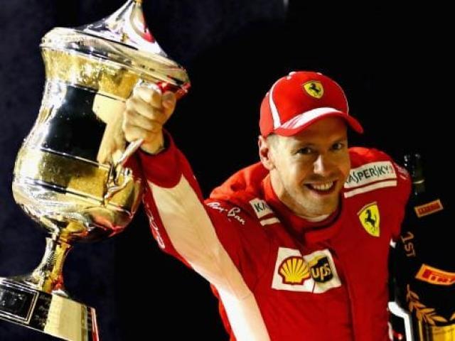 """Bảng xếp hạng F1 - Bahrain GP: Vettel lần 4 lên đỉnh, Hamilton """"sợ hãi"""" tột cùng"""