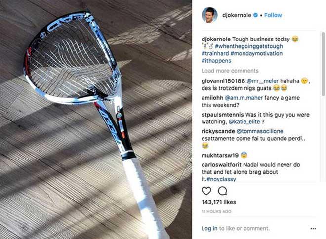 """Đập nát vợt, Djokovic gửi """"chiến thư"""" tới Nadal - Federer - 1"""