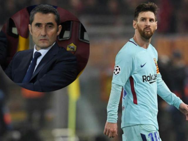 """Barca thua sốc, bị loại khỏi cúp C1: Valverde """"nhận tội"""" thay Messi"""